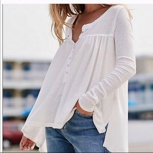 We the Free Free People Kai Henley waffle knit top